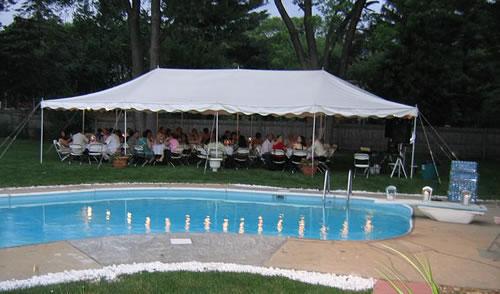 20u0027 x 40u0027 Canopy Tent Package (seats 64) & Jumpinu0027 Jupiter Inflatables - Tent Rentals